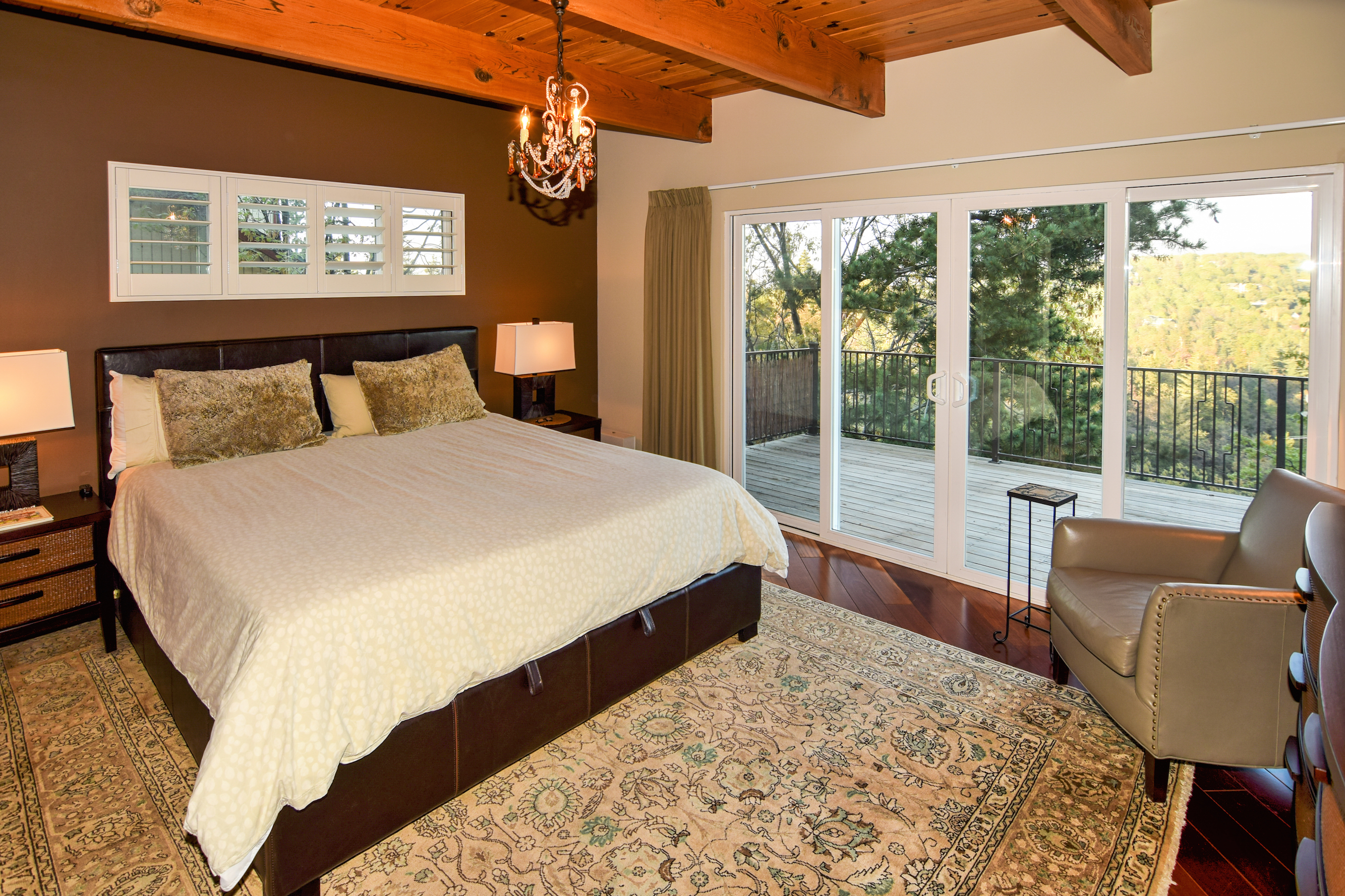 the parkinson group lake arrowhead real estate master bedroom view 3